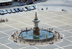 Fountain Samson in Ceske Budejovice Royalty Free Stock Image