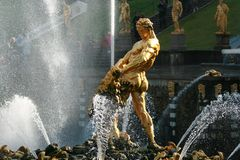 Fountain of Samson Petrodvorets (Peterhof) Royalty Free Stock Image