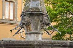 Fountain  San Faustino, Viterbo Stock Photos