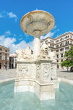 Fountain at San Francisco Square in Havana Royalty Free Stock Photography