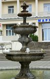 Fountain at the sanatorium «Marble Palace» in Morshyn Royalty Free Stock Photos
