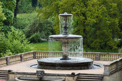 Fountain in Sans Souci stock photography