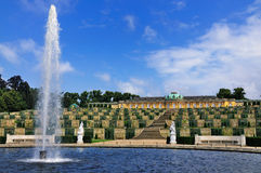 Fountain at Sanssouci, Potsdam. Fountain in the garden of the Palace of Sanssouci in Potsdam, near Berlin, Germany Stock Image