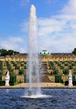 Fountain at Sanssouci, Potsdam. Fountain in the garden of the Palace of Sanssouci in Potsdam, near Berlin, Germany Stock Photography