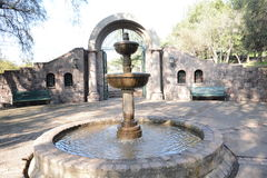 Fountain in Santiago chile Royalty Free Stock Photos