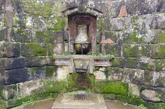 Fountain in Santillana Stock Photo