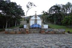 Tiradentes MG Chafariz de Sao Jose. Fountain of Sao Jose de Botas in the city of Tiradentes in Minas Gerais Royalty Free Stock Images