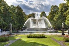 Fountain in the Saski City Garden, Warsaw, Poland Royalty Free Stock Photos
