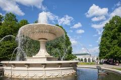 Fountain in Saxon Garden in Warsaw Royalty Free Stock Photos