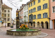 A fountain in Schaffhausen Stock Images