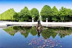 Fountain in Schonbrunn garden in Vienna Stock Photo