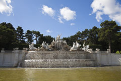 The fountain at the schonbrunn palace Stock Images