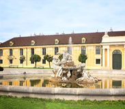Fountain at Schonbrunn Palace, Vienna Stock Image