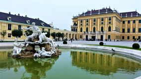 Fountain at Schonbrunn, Vienna Royalty Free Stock Photo