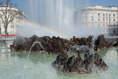 Fountain Schwarzenbergplatz, Vienna Royalty Free Stock Image