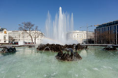 Fountain Schwarzenbergplatz, Vienna Royalty Free Stock Photo