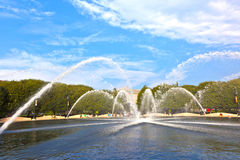 Fountain in the sculpture garden of the national gallery of arts Stock Photography