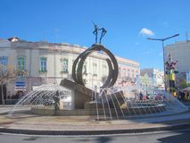 Fountain sculpture in Loule royalty free stock photography