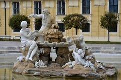 Fountain sculpture: Schonbrunn Wien Vienna, Austria Stock Photography