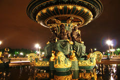 Fountain of the seas, Paris, France. Fountain of the Seas on the Concorde's Place in Paris and at night, France stock photos