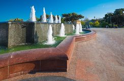 Fountain in seaside park Royalty Free Stock Images