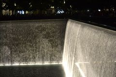 Fountain September 11 Memorial 9/11 Royalty Free Stock Images