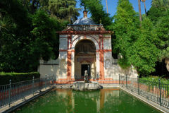 Fountain in Seville. Seville, Real Alcazar's fountain Royalty Free Stock Photo