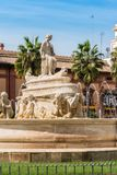 The Fountain of Seville on Puerta de Jerez square in Seville, An Stock Image