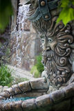 Fountain in shape of Zeus head Royalty Free Stock Image