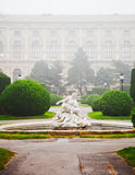Fountain in shaped garden Stock Photography