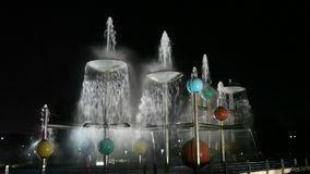 Fountain in Sharjah City stock video