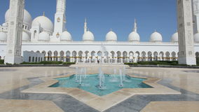Fountain at Sheikh Zayed Mosque, Abu Dhabi stock video
