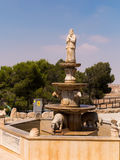 Fountain on the shepherds in Bethlehem Stock Photo