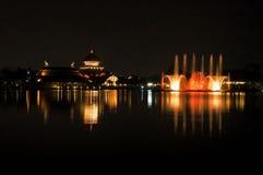 Fountain show. Musical fountain in chiang mai night safari Stock Photography