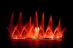 Fountain show. In chiang mai night safari Stock Photo