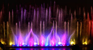 Fountain show Royalty Free Stock Image