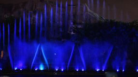 Fountain show Stock Images