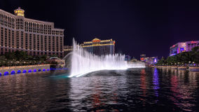 Fountain show at Bellagio hotel and casino royalty free stock photos