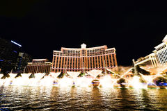 Fountain show at Bellagio hotel and casino Stock Image