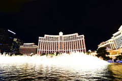 Fountain show at Bellagio hotel and casino Stock Photo