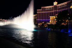 Bellagio Casino Fountains Royalty Free Stock Photos