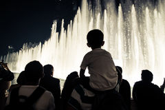 Fountain show Stock Photos