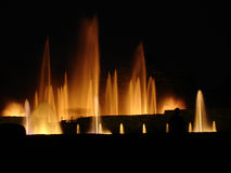 Fountain show in LOngwood gardens, PA. Night fountain show in Longwood gardens (DuPont estate), PA stock images