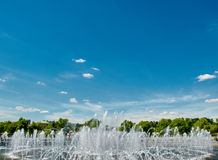 Fountain and sky Stock Photography