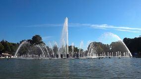 Fountain at slow motion stock video footage