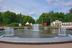 Fountain in Sokolniki Royalty Free Stock Images