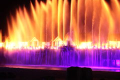 Fountain. Song of the sea at singapore Royalty Free Stock Images