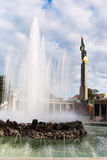 Fountain and Soviet Army War Memorial in Vienna Stock Photos