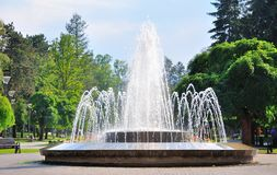 Fountain. In the spa Vrnjacka Banja Royalty Free Stock Photo