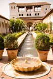 Fountain in a Spain patio Stock Images